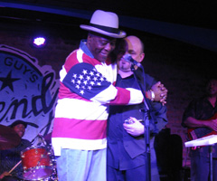 BUDDY GUY JOINS THE MATTHEW SKOLLER BAND AT BUDDY'S CLUB, LEGENDS IN CHICAGO. MATTHEW HAS WORKED THIS CLUB ON A MONTHLY BASIS SINCE IT OPENED IN 1989.
