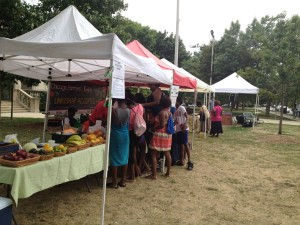 Farmers Market at Austin Town Hall on the West side of Chicago. 2012